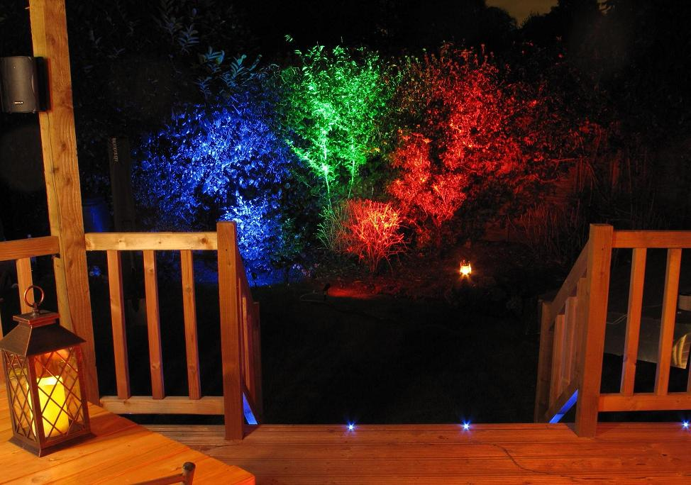 Image result for coloured garden lighting